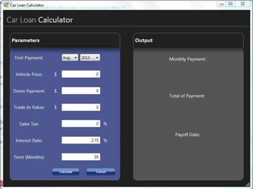 Free Car Loan Calculator