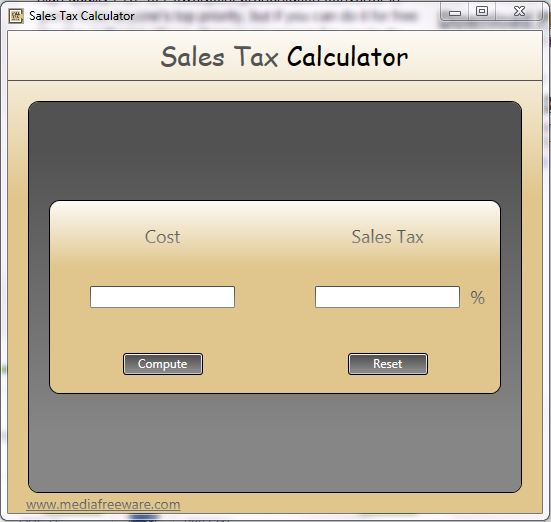 Free Sales Tax Calculator