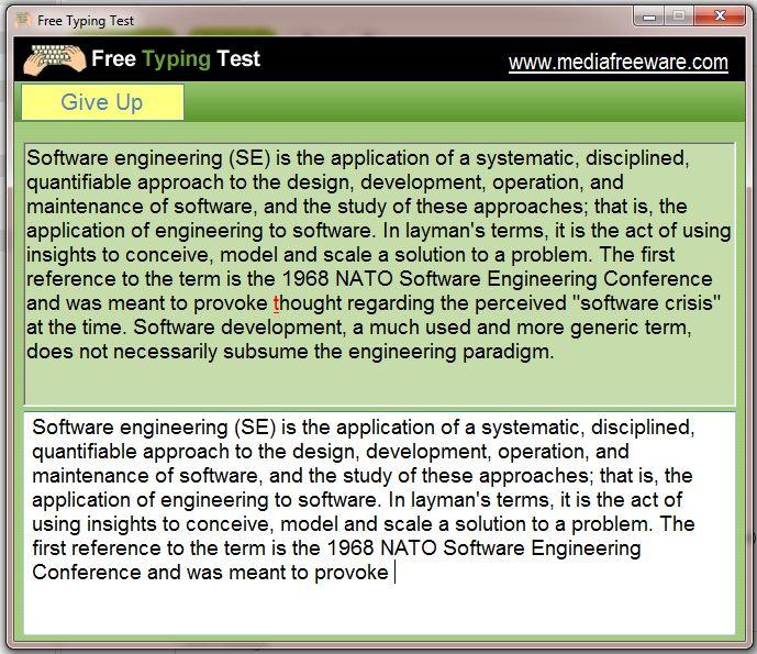 Free Typing Test