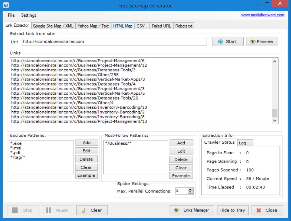 Free Sitemap Generator