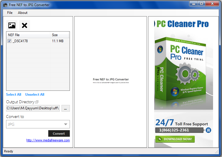 how to convert pdf photo to jpeg format