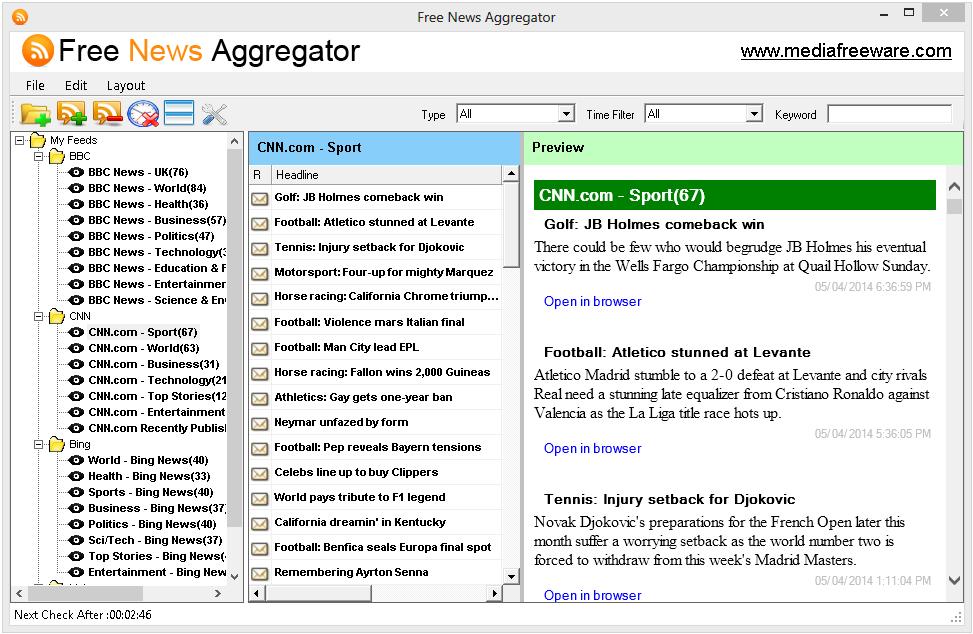 Free News Aggregator