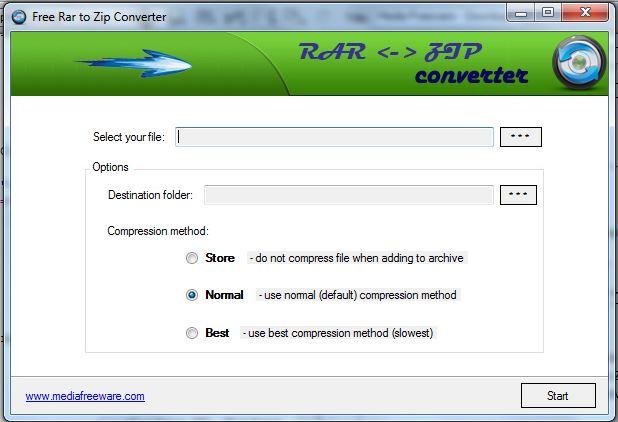 Free Rar to Zip Converter