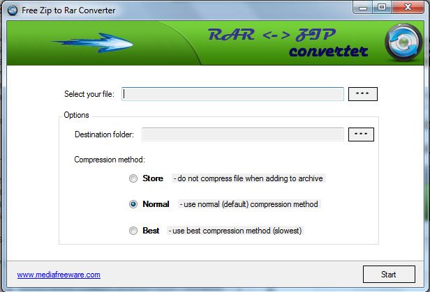 Free Zip to Rar Converter