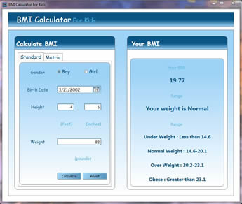 Bmi Calculator For Kids