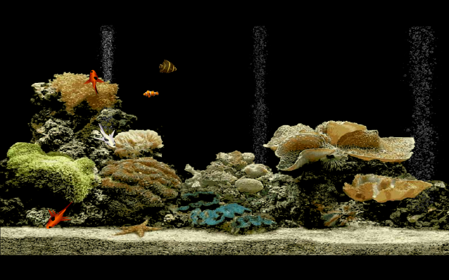 Free Aquarium Screensaver Screen shot