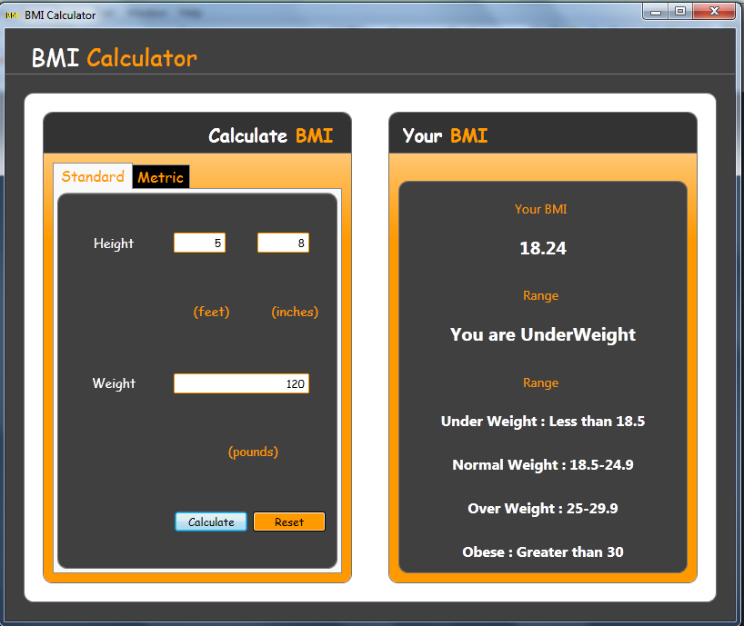 Free BMI Calculator