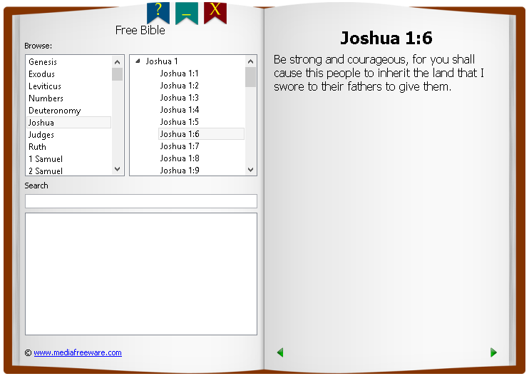 Free Bible Screen shot