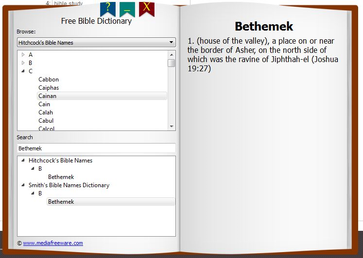 Free Bible Dictionary Screen shot