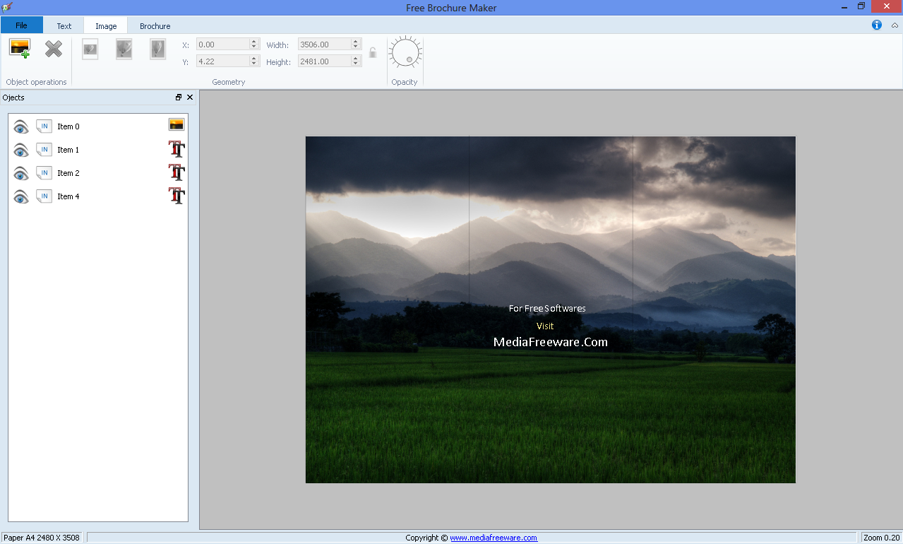 Free brochure maker media freeware download free business card maker reheart Gallery