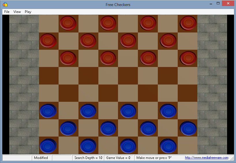 Free Checkers Screen shot