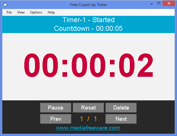Free Count Up Timer Screen shot