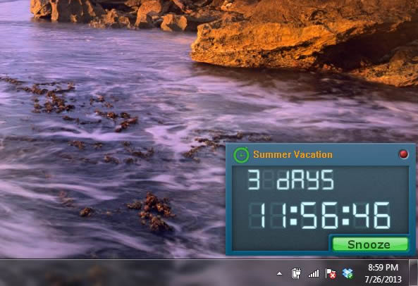 Free Countdown Timer Screen shot