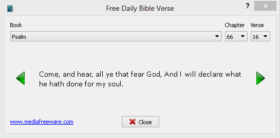 Free Daily Bible Verse Screen shot