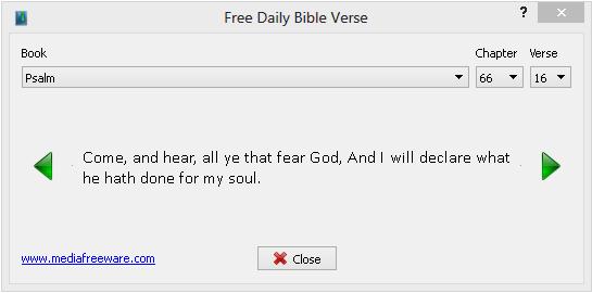 Free Daily Bible Verse