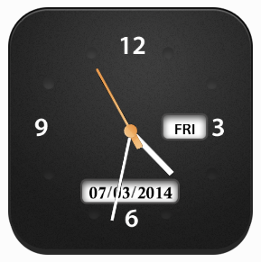 Free Desktop Clock Screen shot