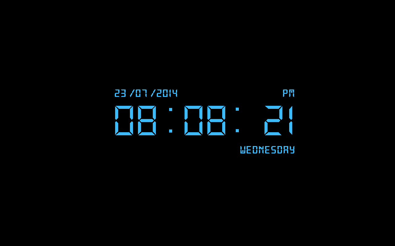Free Digital Clock Screensaver Screen shot
