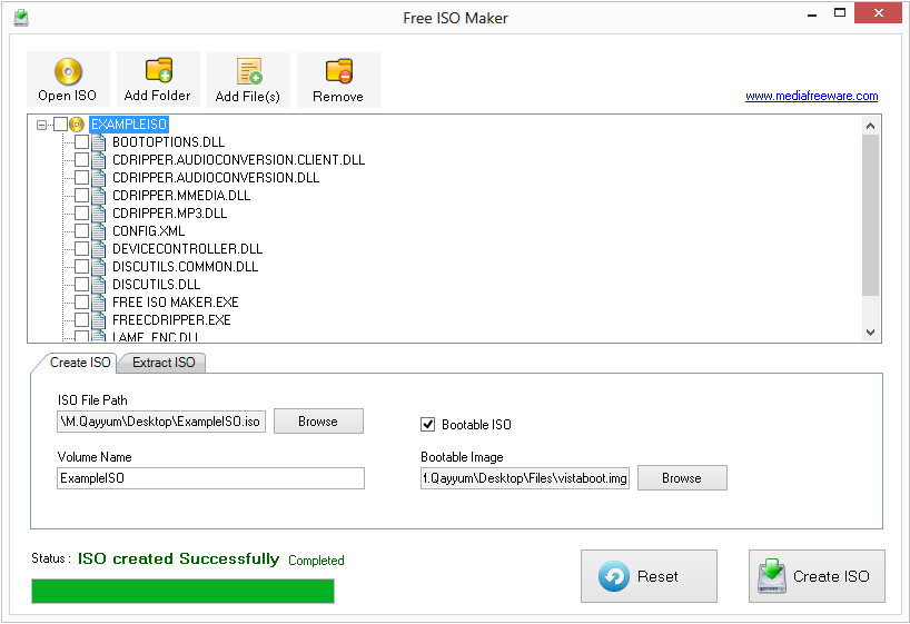 Free ISO Maker Screen shot