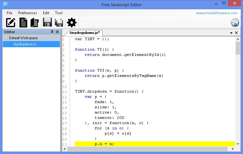 Free Javascript Editor