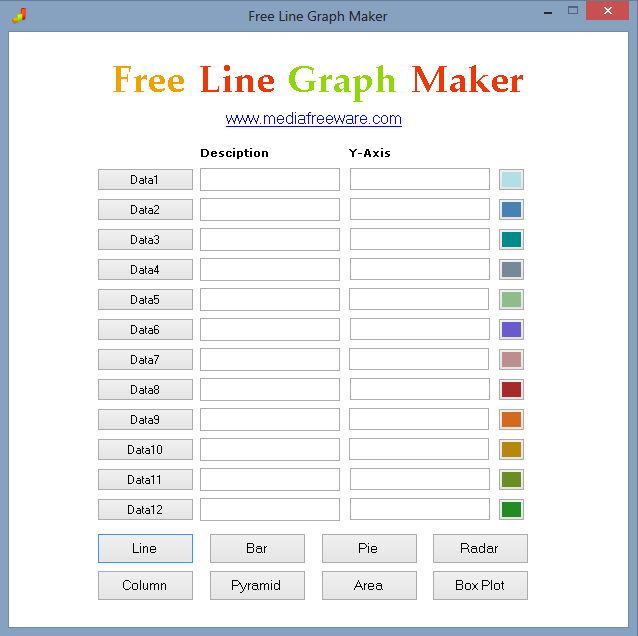 Free Line Graph Maker Screen shot