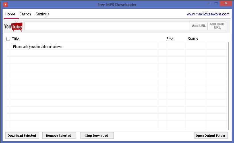 Free MP3 Downloader Screenshot