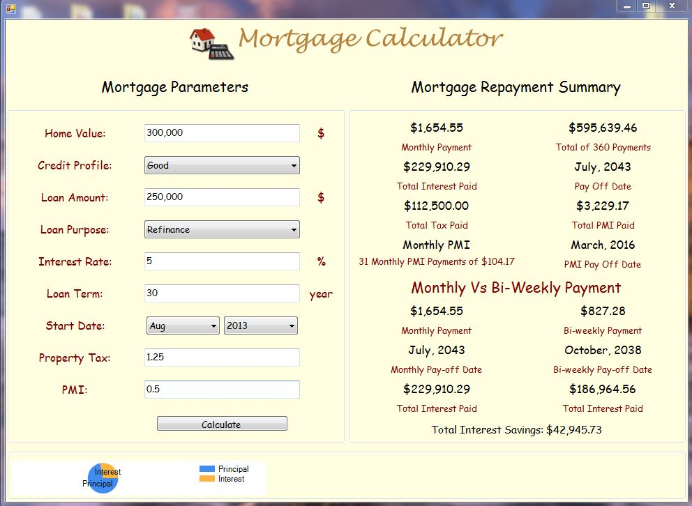 Click to view Free Mortgage Calculator screenshots