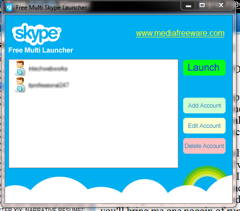 Free Multi Skype Launcher Screen shot