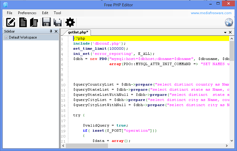 Free Php Editor