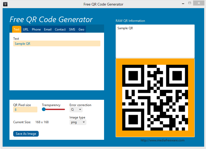 Click to view Free QR Code Generator screenshots