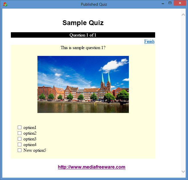 Free Quiz Maker Screen shot