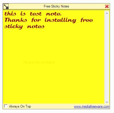 Click to view Free Sticky Notes screenshots