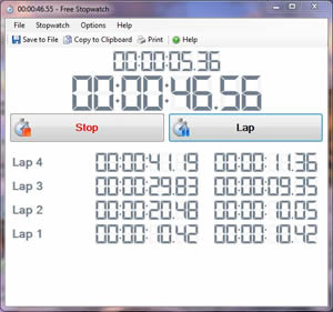 Click to view Free Stopwatch Timer screenshots