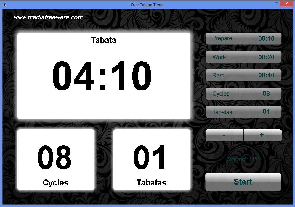 Click to view Free Tabata Timer screenshots
