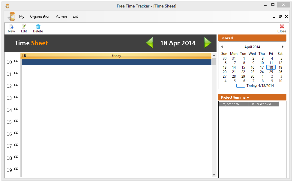 Click to view Free Time Tracker screenshots