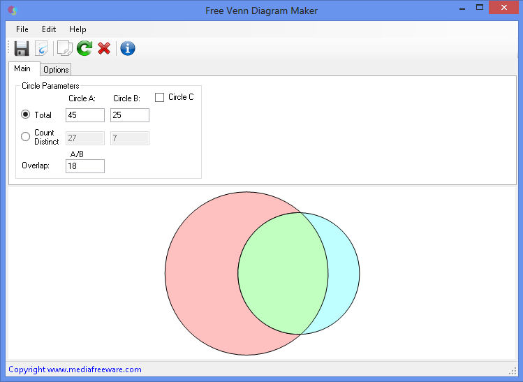 Free Venn Diagram Maker Screen shot