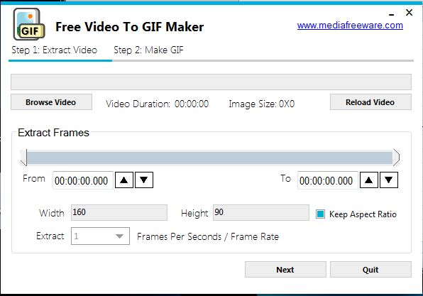 Click to view Free Video to GIF Maker screenshots