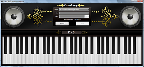 Free Virtual Piano Screen shot