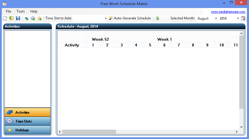 Click to view Free Work Schedule Maker screenshots