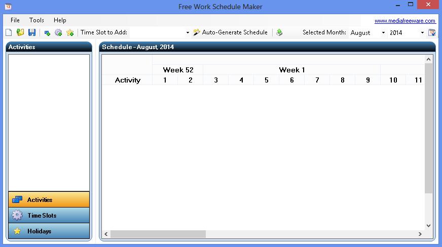 work schedule maker free download