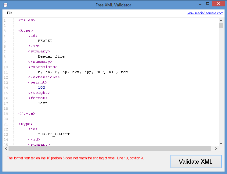 Free Xml Validator