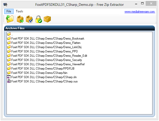 Free Zip Extractor Screenshot
